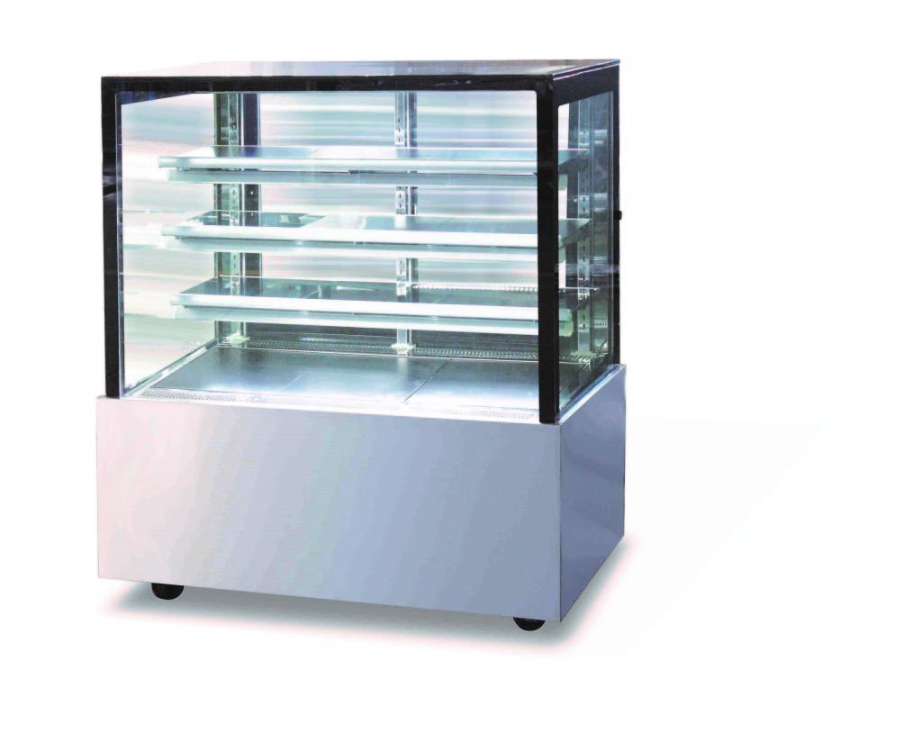 Fralu premium Square glass cake display model DZF-1513