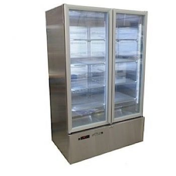 WILLIAMS HQ28GDSS Quartz 2 Glass door upright display fridge.