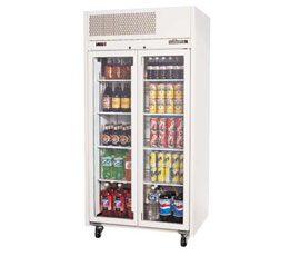 Williams HRS2GDCB Ruby 2 door display fridge colour-bond