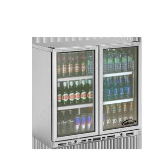 Williams BC2SS-80 2 Door Display Bottle Cooler 80CM High