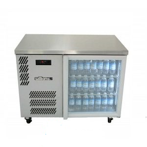 Williams Boronia HB1UGS Single Glass Door Back Bar in Stainless Steel