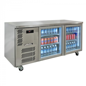 Williams Boronia HB2UGS Double Glass Door Back Bar in Stainless Steel